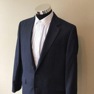 Charles Trywhitt mens 42R blue wool suit jacket
